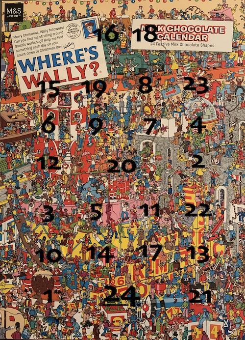 where is door on wheres wally advent calendar