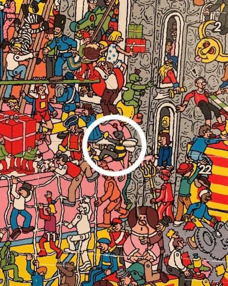 Wheres Wally Advent Calendar Answers BUMBLEBEE