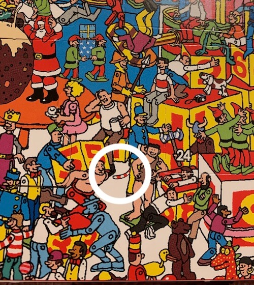 Find Woof's Tail Where's Wally advent answers
